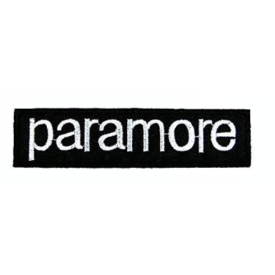 Paramore Logo Patch (White on Black) Embroidered Iron on Hat Jacket Hoodie Backpack Ideal for Gift/...