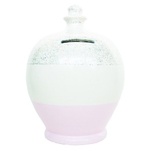 Terramundi Glitter Money Pot White with Pale Pink and Silver G2 貯金箱(ホワイト・ペールピンク・シルバー)