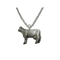 Silver Toned Cowペンダントネックレス