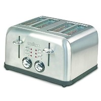 Salton ET1404 4-Slice Electronic Toaster, Brushed Metal [並行輸入品]