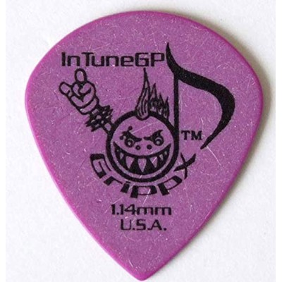 In Tune Guitar Picks DGP4-C114 GrippX-XJJ 1.14mm Purple ピック×12枚