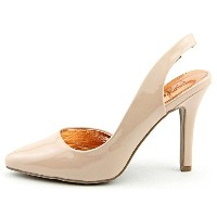 Material Girl Womens Tinker Pointed Toe Slingback Classic Pumps, Pink, Size 9