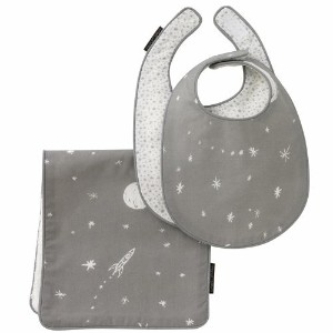 DwellStudio Bib and Burp Set, Galaxy Dusk by Dwell Studio