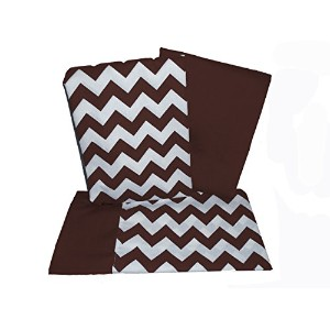 Baby Doll Bedding Chevron Crib and Toddler Sheet Set, Brown by BabyDoll Bedding