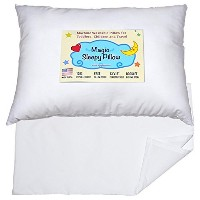 Toddler Travel Pillow 13x18 - Delicate Soft & Hypoallergenic White Cotton Shell with Pillowcase &...