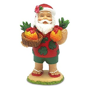Santa 's Bounty Hawaiian Holiday Ornament