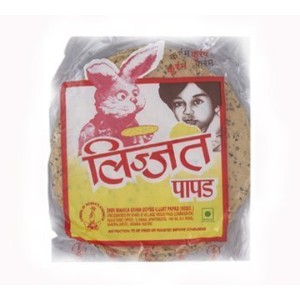 Lijjat Punjabi Indian Papad - Traditional Handmade - 3 packages of 7 oz by Lijjat