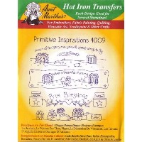 Primitive Inspirations Aunt Martha's Hot Iron Embroidery Transfer by Aunt Martha's