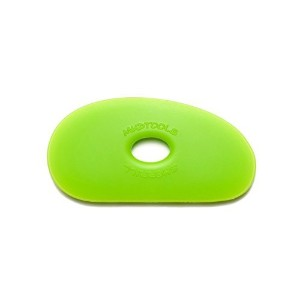 Sherrill Mudtools Shape 1 Polymer Rib for Pottery and Clay Artists, Green Color, Medium by Creative...