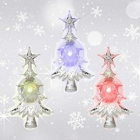 LEDツリーLEDライトの色変更吸引カップAttached to Back for Hanging in a Windowクリスマスデコレーションアクリル4インチ 3 Pack 9696