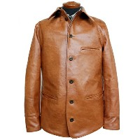 FREEWHEELERS フリーホイーラーズ BRAKEMAN COAT 1920s RAILROAD WORK COAT NEAL CASSADY RAILROAD BRAND HORSEHIDE...
