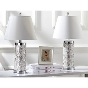 Safavieh Lighting Collection Diana Ivory Shell 21.5-inch Table Lamp (Set of 2) by Safavieh