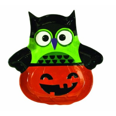 Boston Warehouse All Owl's Eve Pumpkin Chip and Dip Platter スナック キッチン プレート