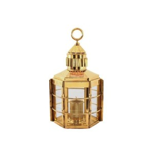 """Candle Lantern–Nauticalランプ真鍮Clipper 16""""–Candle Lamps"""