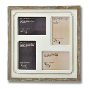 36.5cm x 36.5cm x 2cm Brown Wooden Pavilion Multi Photo Frame