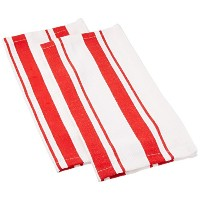 MUkitchen Cotton Stripe Dishcloth, 13 by 13-Inches, Set of 2, Punch by MUkitchen [並行輸入品]