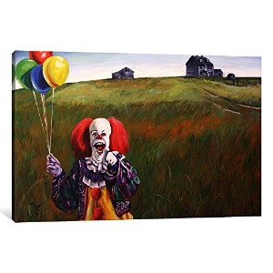 iCanvasART 1ピースPennywise 's Worldキャンバスプリントbyヒラリーホワイト 0.75 by 18 by 26-Inch HWE14