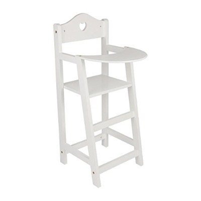 White Wooden dolls highchair by small foot company