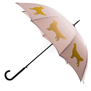 San Francisco傘Co。Maize / Warm Taupe Golden Retrieverデザインプレミアム雨傘-190tポンジーポリエステルキャノピー – Strongハンドル&スチールシャフト – Ideal For Men & Women – 完璧なギフト