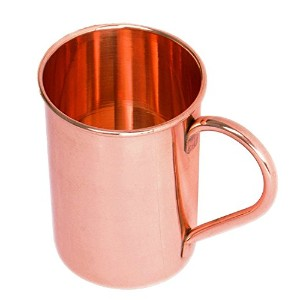 Pure Copper Mug for Moscow Mule 16オンス銅マグPerfect Pure Copper裏地なしモスコミュール銅マグ裏地なし、本物100 % 16 ブラウン MA-LM...