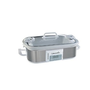 Crock-potテつョ 3.5 Qt Programmable Stoneware Casserole Slow Cooker, Stainless Steel by Crock-Pot
