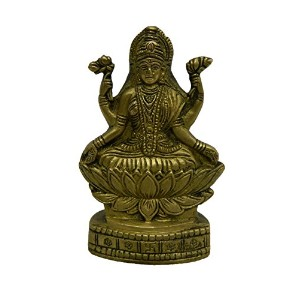 Pure Brass Metal Laxmi Standing in Fine Finishing and Decorative art by Bharat Haat BH04186