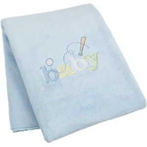Carters Sweet Baby Blanket, Blue (Discontinued by Manufacturer) by Kids Line