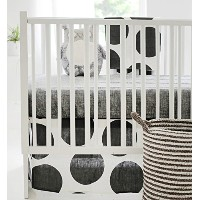 New Arrivals 2 Piece Crib Bed Set, Spot on Charcoal by New Arrivals