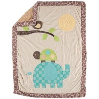 Little Beginnings Unisex Baby Elephant Minky Sherpa Blanket by Little Beginnings