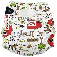Imagine Baby Products Stay Dry All-in-One Hook and Loop Diaper, Barnyard Jam by Imagine Baby...