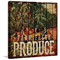 "Marmont Hill vintage-farmキッチン' Franklin Farmers Market 'キャンバス壁アート 24"" x 24"" MH-FMKIT-138-C-24"