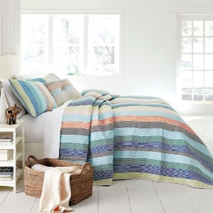 Brylanehome Coastal Stripeベッドスプレッド クイーン 32684951020mkQUEEN~QUEEN