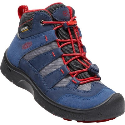 【KEENバンダナプレゼント中】 キーン KEEN Youth Hikeport Mid WP Dress Blues/Fiery Red [ハイクポートミッド][防水][冬用ブーツ][レインブーツ...