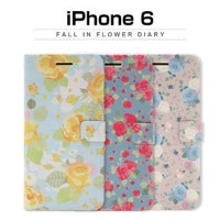 その他 Happymori iPhone6 Fall in flower Diary ピンクローズ ds-1823338
