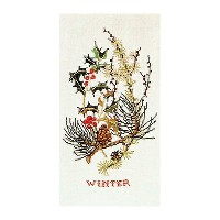 Thea Gouverneur クロスステッチ刺繍キットNo.841 「Winter」(冬の花) オランダ テア・グーヴェルヌール 【取り寄せ/納期40~80日程度】