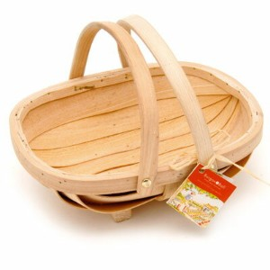 【英国Burgon & Ball社】POTTING(子供用取っ手付きカゴ)Budding Gardener Wooden Trug