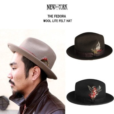 New York Hat Co(ニューヨークハット) THE FEDORAウールハット/全3色