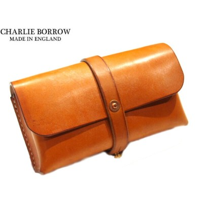 CHARLIE BORROW (チャーリー・ボロウ)/OAK BARK TANNED LEATHER x HAND STITCH TRAVEL POUCH/MADE IN ENGLAND/light...