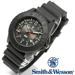 【クーポン対象外】 Smith & Wesson スミス&ウェッソン SWISS TRITIUM M&P WATCH 腕時計 BLACK/BLACK SWW-MP18-BLK《WIP》