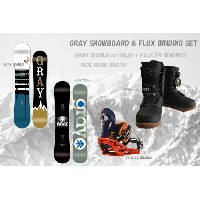 GRAY SNOWBOARDS + FLUX [ メンズ スノーボード 3点セット&ボードケース付き&バイン取付無料 @123120]