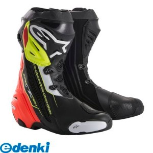 アルパインスターズ(alpinestars)[8021506924128] SUPERTECH-R BOOT カラ-:136 BLACK RED YELLOW FLUO サイズ:39 25.0...