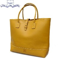 正規取扱店 HERITAGE LEATHER CO.(ヘリテージレザー) NO.7955ST Mocassin Leather Tote Bag(レザートートバッグ) Yellow/Yellow...