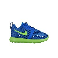 NIKE ROSHE ONE FLIGHT WEIGHT TDV(ナイキ ローシ ワン フライト ウェイト TDV)RACER BLUE/ELECTRIC GREEN【キッズ スニーカー】16SU-I