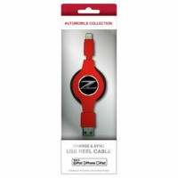 NISSAN 公式ライセンス品 FAIRLADY Z CHARGE & SYNC USB REEL CABLE FOR IPHONE RED NZMUJ-R1RD 【RCP】【AS】送料込みで販売!