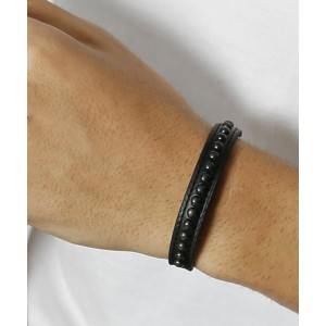 【wjk】9822 bl01i-wrapped bangle(4mm leather) バングル