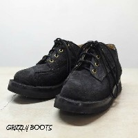 GRIZZLY BOOTS (グリズリー ブーツ)/Lineman Oxford -BLACK ROUGH OUT- 【別注】