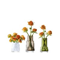 LSA CHIMNEYMini Vase Trio H80-120mm【assorted colours】 箱入り 3個セット