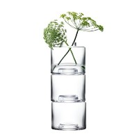 LSA STACK STACK VASE TRIO〈CLEAR〉H300mm 【花瓶】 箱入り