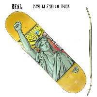 REAL/リアル UNIRTED WE STAND (HUMIDITY) YELLOW 8.06 DECK スケートボード/スケボーデッキ SK8