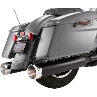 """【USA在庫あり】 1801-1076 550-0667 S&Sサイクル S&S Cycle MUFFLERS 4.5""""BLK/THRST 17"""